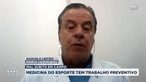 Dr. Marcelo Leitão, presidente da gestão SBMEE 2017-20, fala sobre atendimento na Eurocopa – Band Cidade